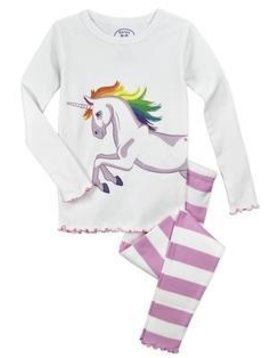 Sara's Prints Unicorn Long John PJ