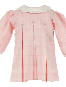 Carriage House Pink Windowpane Plaid Dress