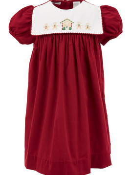 Carriage House Gingerbread Short Sleeve Dress