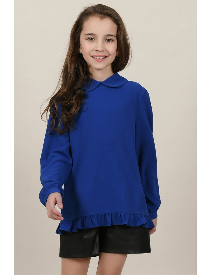 Mini Molly Cobalt Blouse