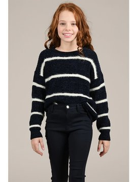 Mini Molly Navy Stripe Sweater