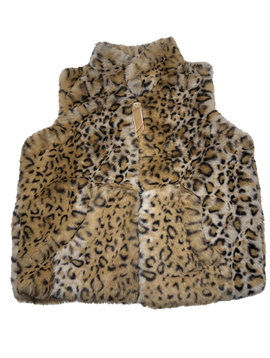 Widgeon Zip Vest Caramel Leopard