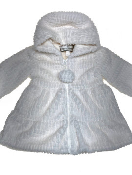 Widgeon Hooded Ivory Swing Coat