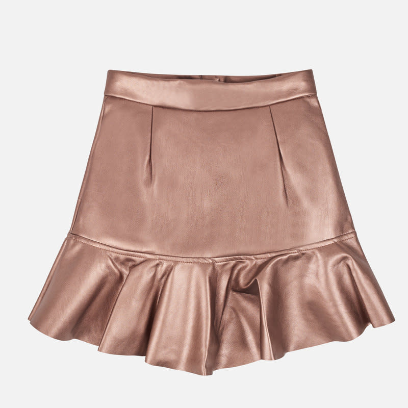 Mayoral Copper Leatherette Skirt