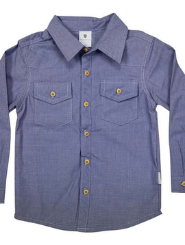 Korango Navy Gingham Shirt