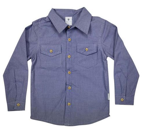 Korango Navy Gingham Shirt