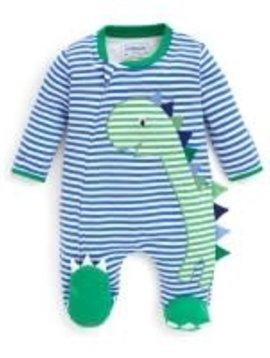 JoJo Maman Bebe Dino Applique Sleepsuit