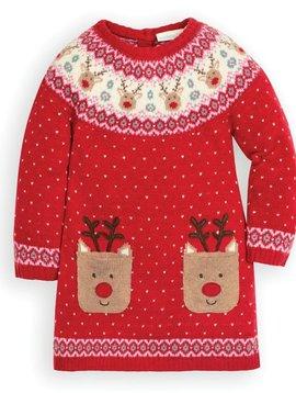 JoJo Maman Bebe Reindeer Fair Isle Dress