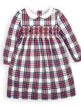 JoJo Maman Bebe Tartan Smocked Dress