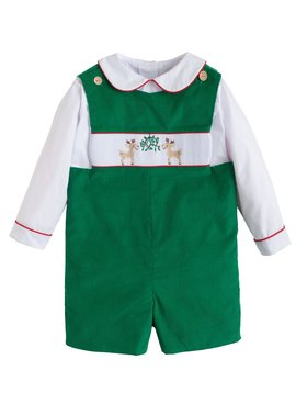 Little English Reindeer Smocked John John