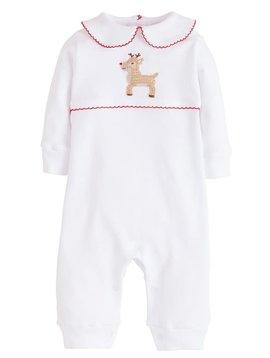 Little English Reindeer Crochet Playsuit