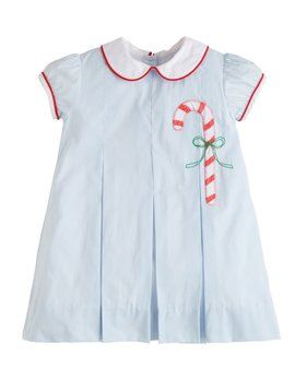 Little English Candy Cane Pleat Dress