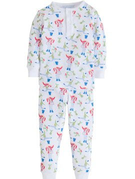 Little English Drummer Holly Jolly Jammies