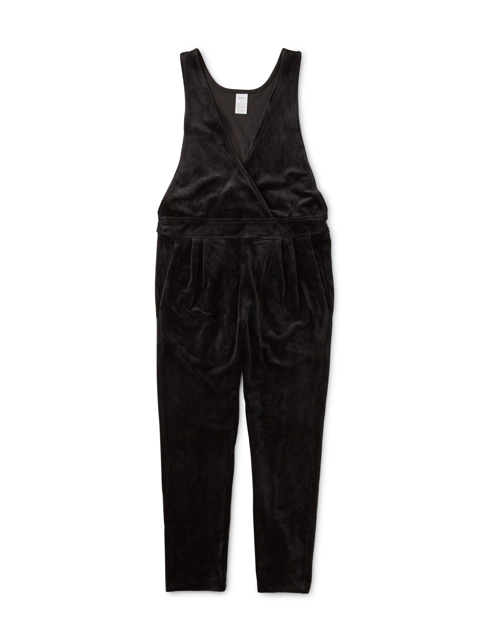 Tea Collection Black Velour Romper