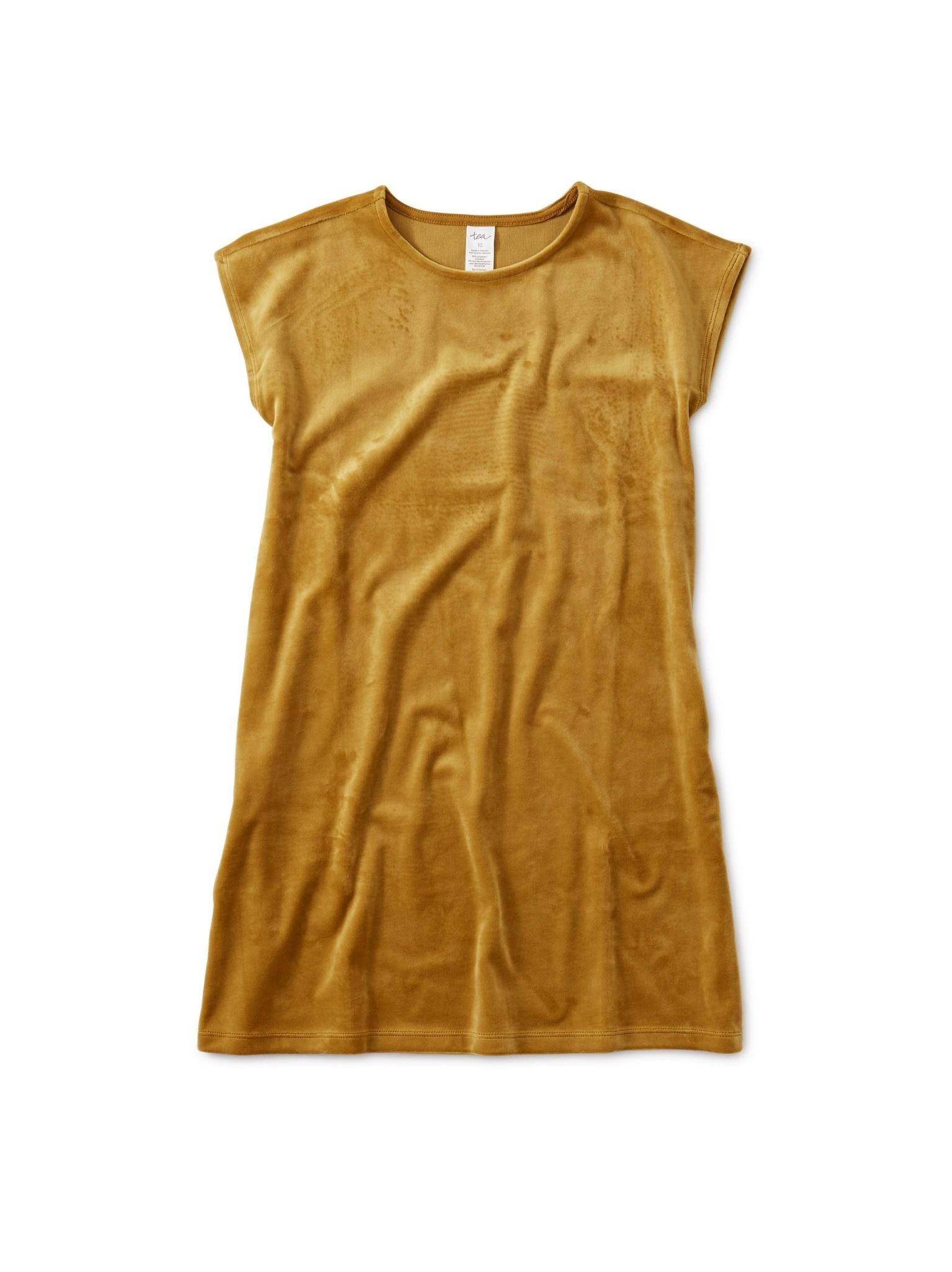 Tea Collection Chestnut Velour Shift Dress
