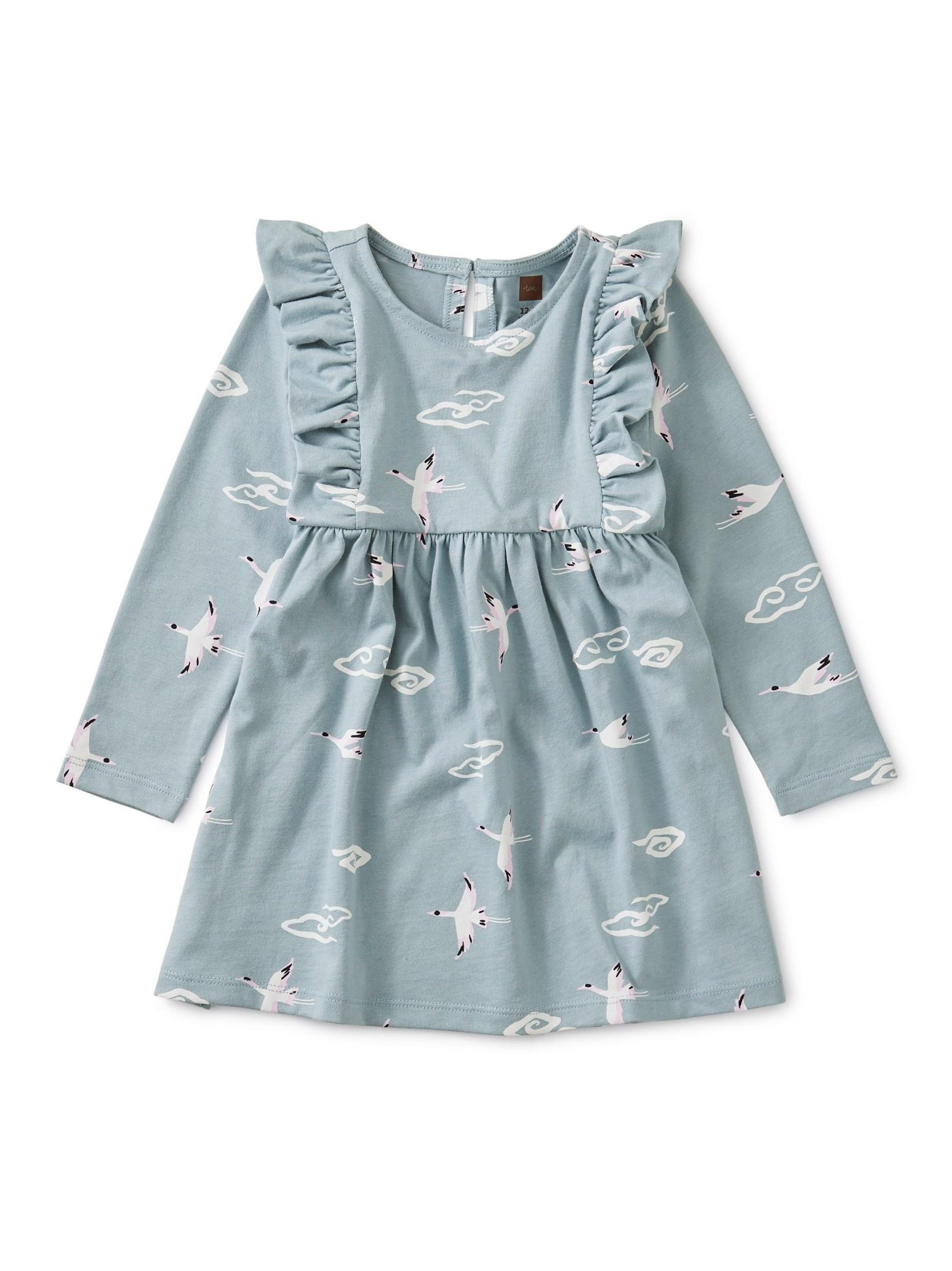 Tea Collection Crane Cloud Ruffle Dress