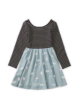 Tea Collection Crane Skies Ballet Skirt Dress