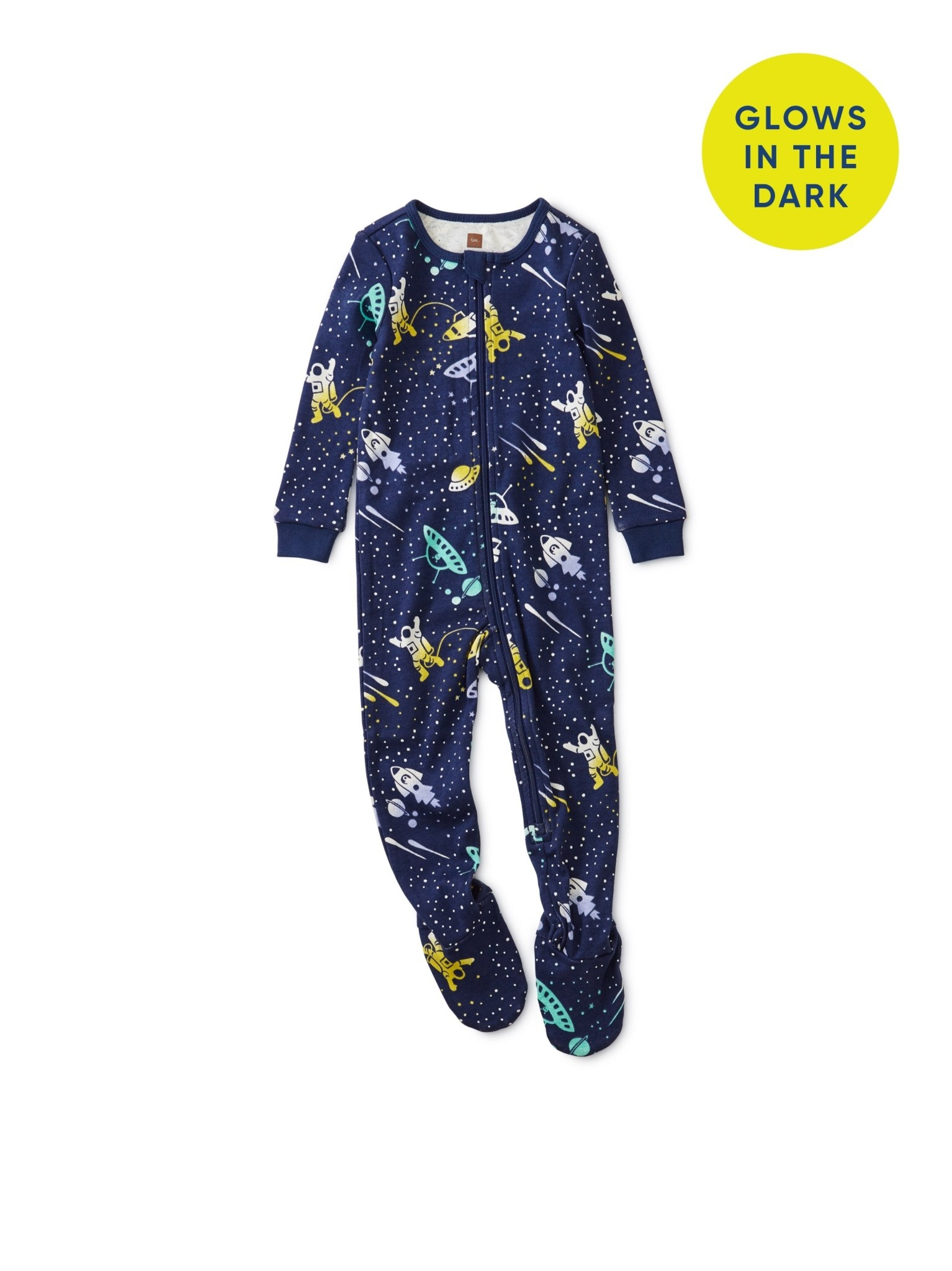 Tea Collection Galactic Footed Pajamas