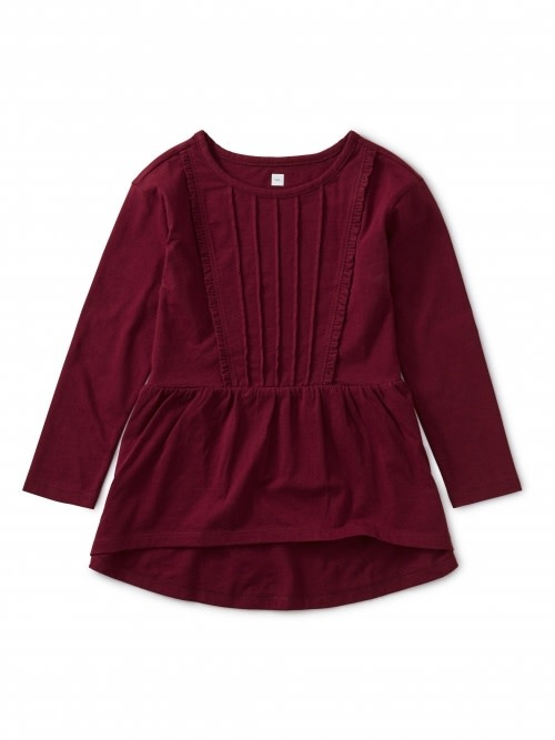 Tea Collection Pleated Pintuck Top