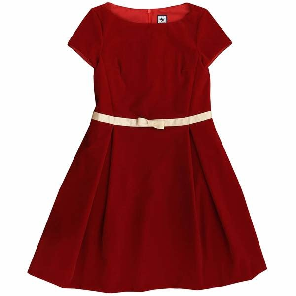 Busy Bees Aylah Red Box Pleat Dress