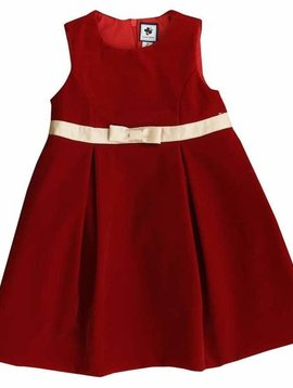Busy Bees Gemma Red Velvet Dress