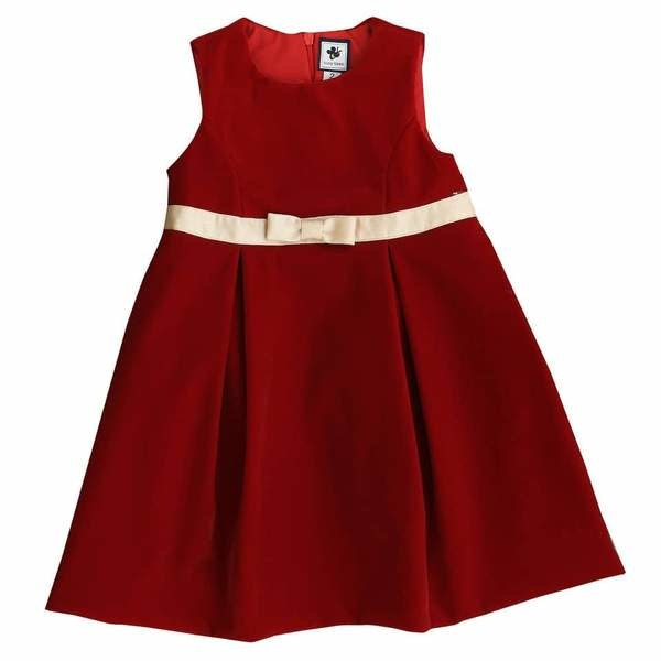 Busy Bees Gemma Red Velvet Dress