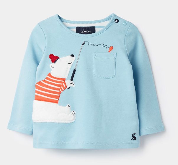 Joules Peeker Polar Bear Top