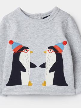 Joules Boo Penguin Top
