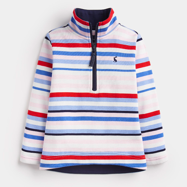 Joules Fairdale Stripe Zip Pullover