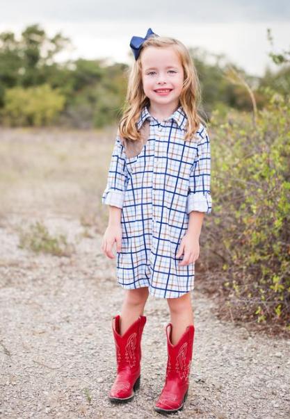 Blue Quail Ranch Dress Tattersall/Khaki