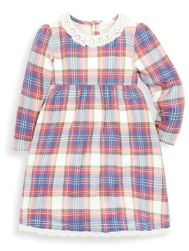 JoJo Maman Bebe Fox Check Smock Dress