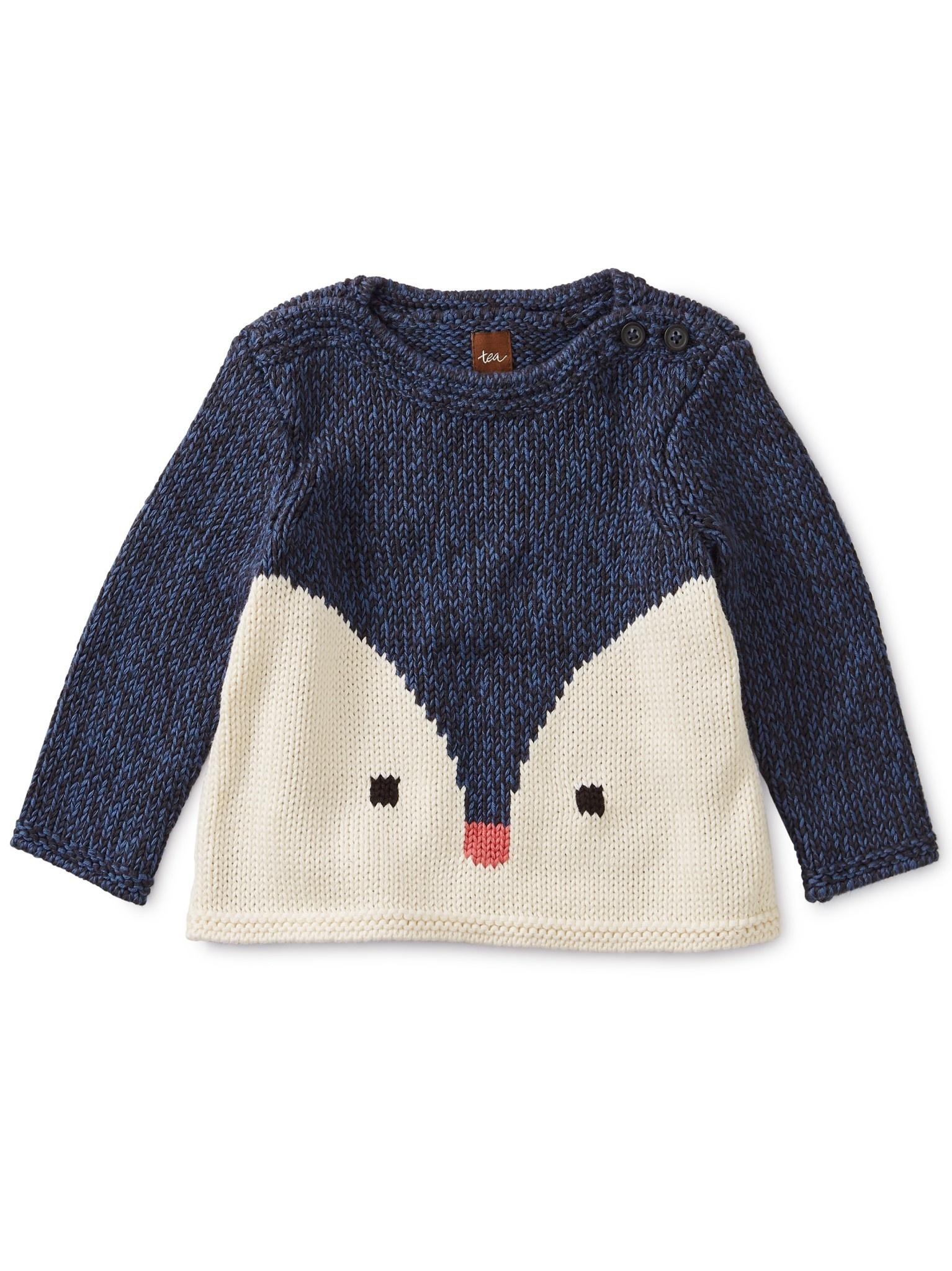 Tea Collection Indigo Critter Sweater