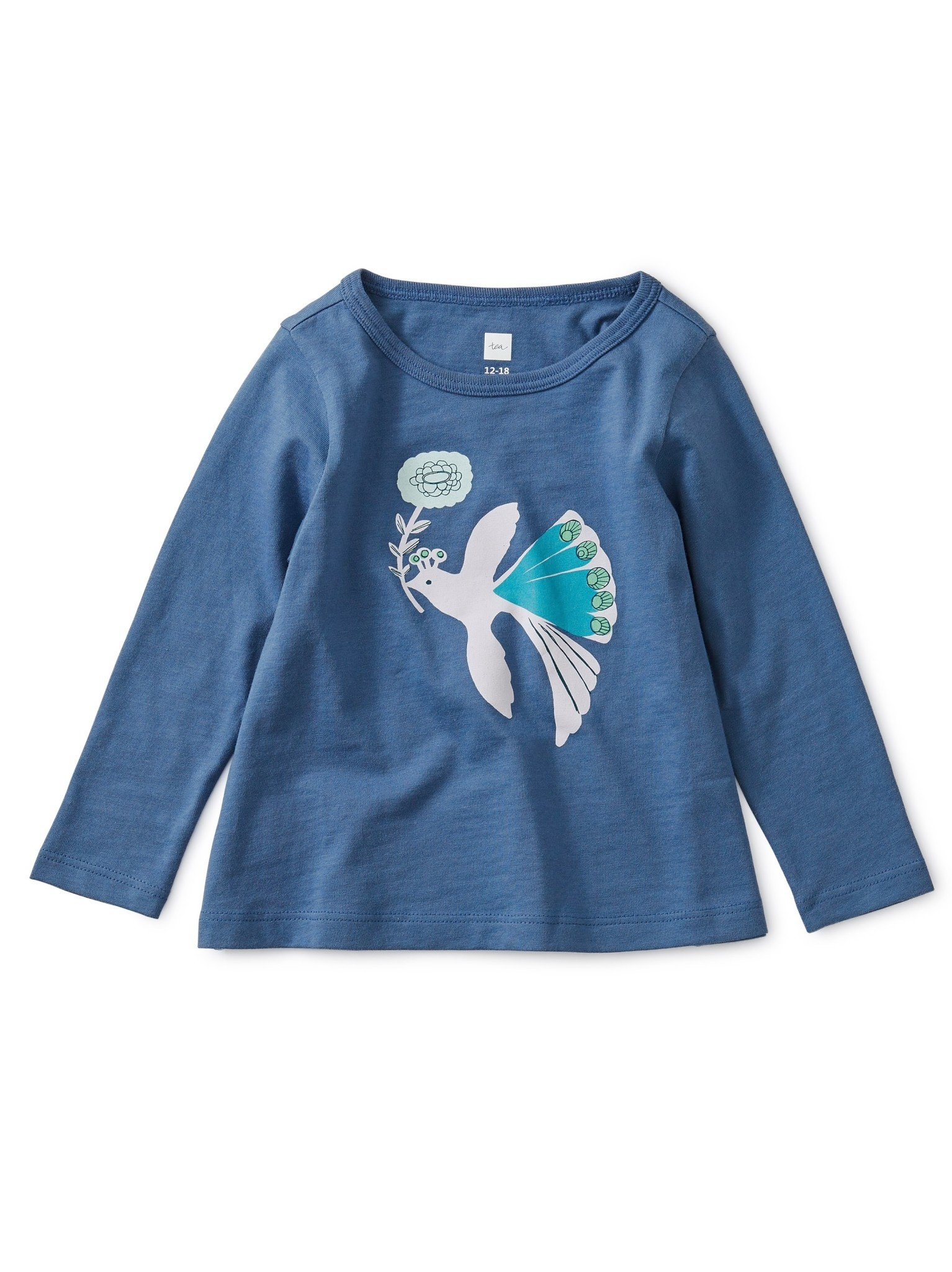 Tea Collection Peacock Graphic Tee