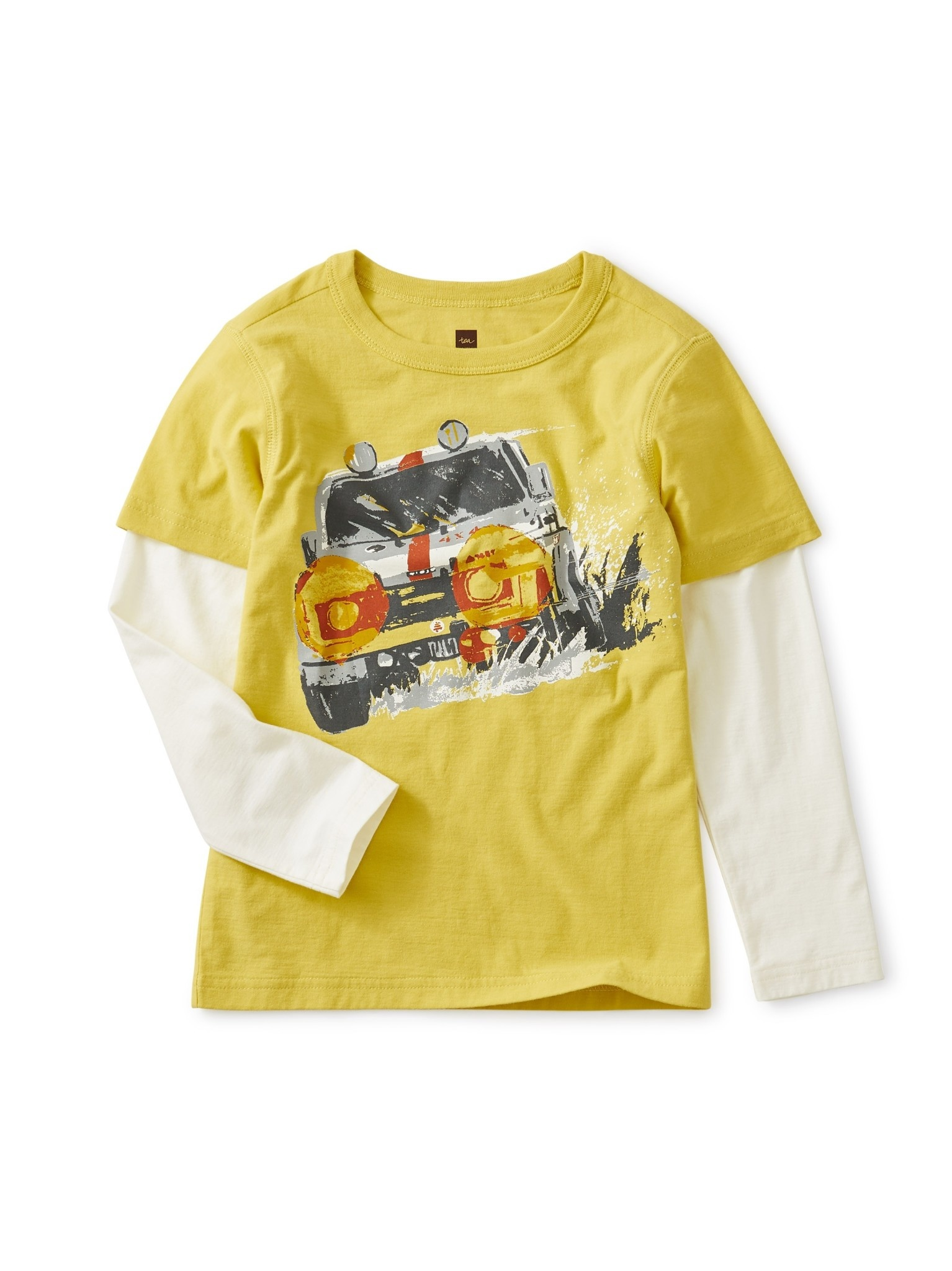 Tea Collection Truck Layered Graphic Tee