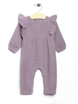 City Mouse Violet Long Flutter Romper