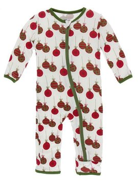 Kickee Pants Natural Ornaments Snap Coverall