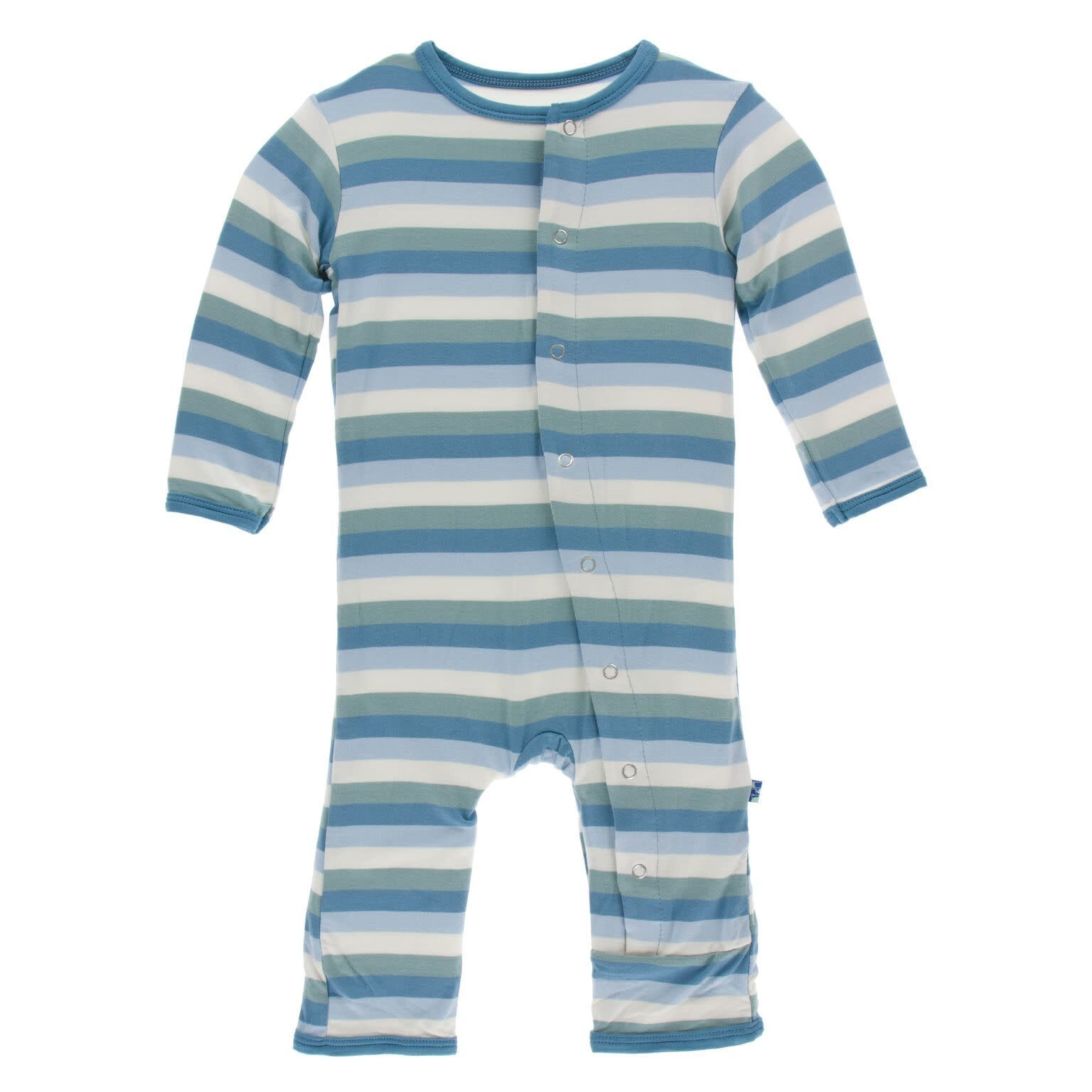 Kickee Pants Coverall with Snaps