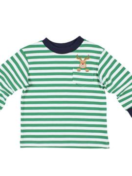 Florence Eiseman Reindeer Stripe Shirt