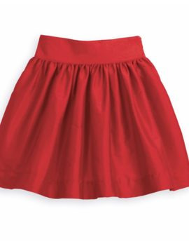 Bella Bliss Red Taffeta Party Skirt