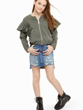 Habitual Emery Distressed Denim Skirt