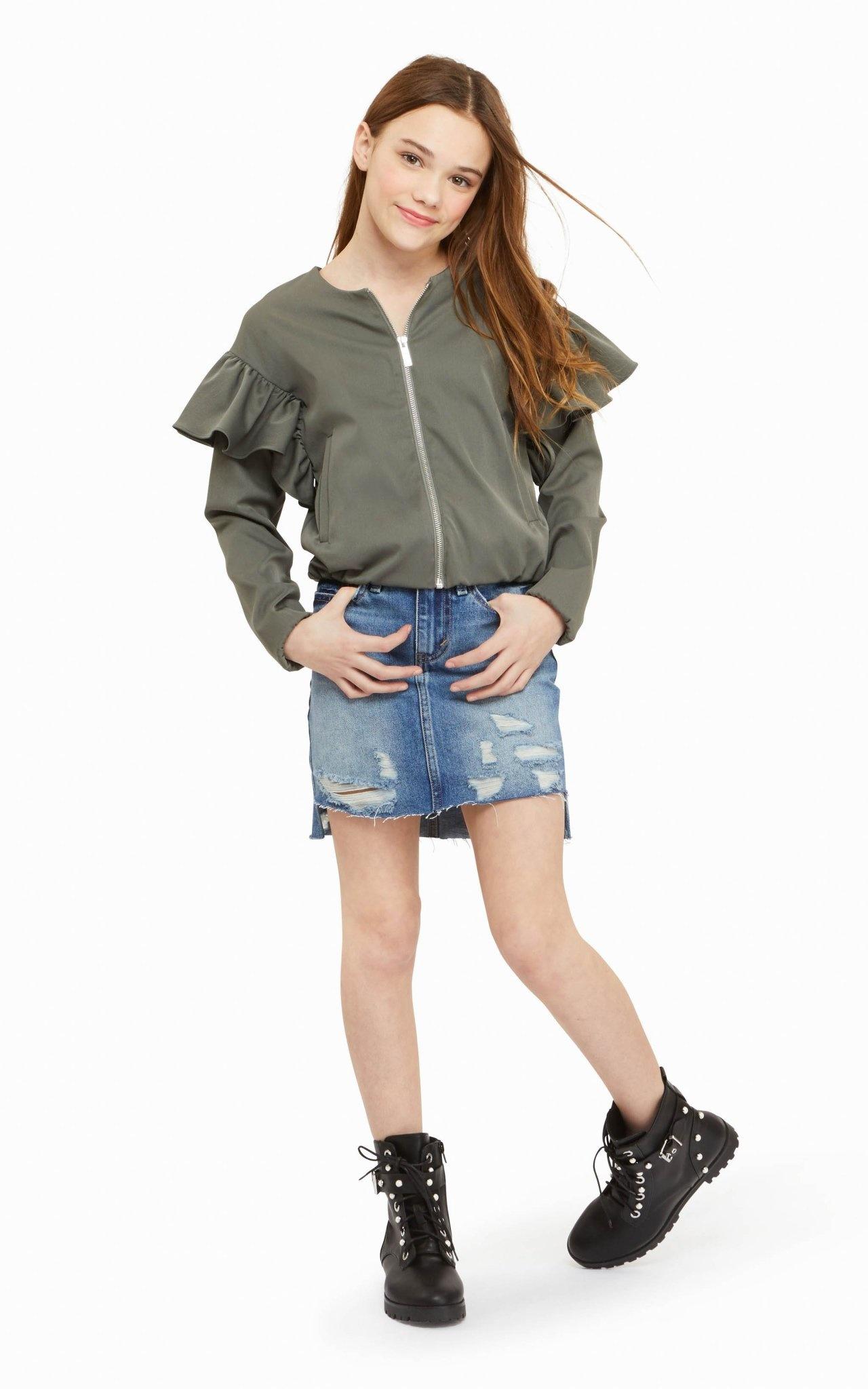 Habitual Emery Distressed Denim Skirt