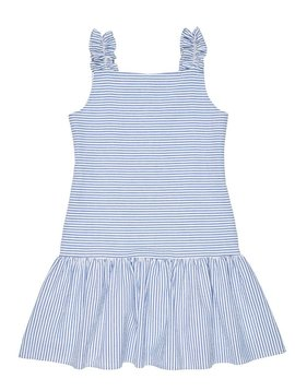 Florence Eiseman Blue Ruffle Seersucker Dress