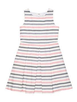 Florence Eiseman Grey/Pink Stripe Dress