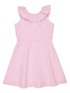 Florence Eiseman Pink Ruffle Seersucker Dress