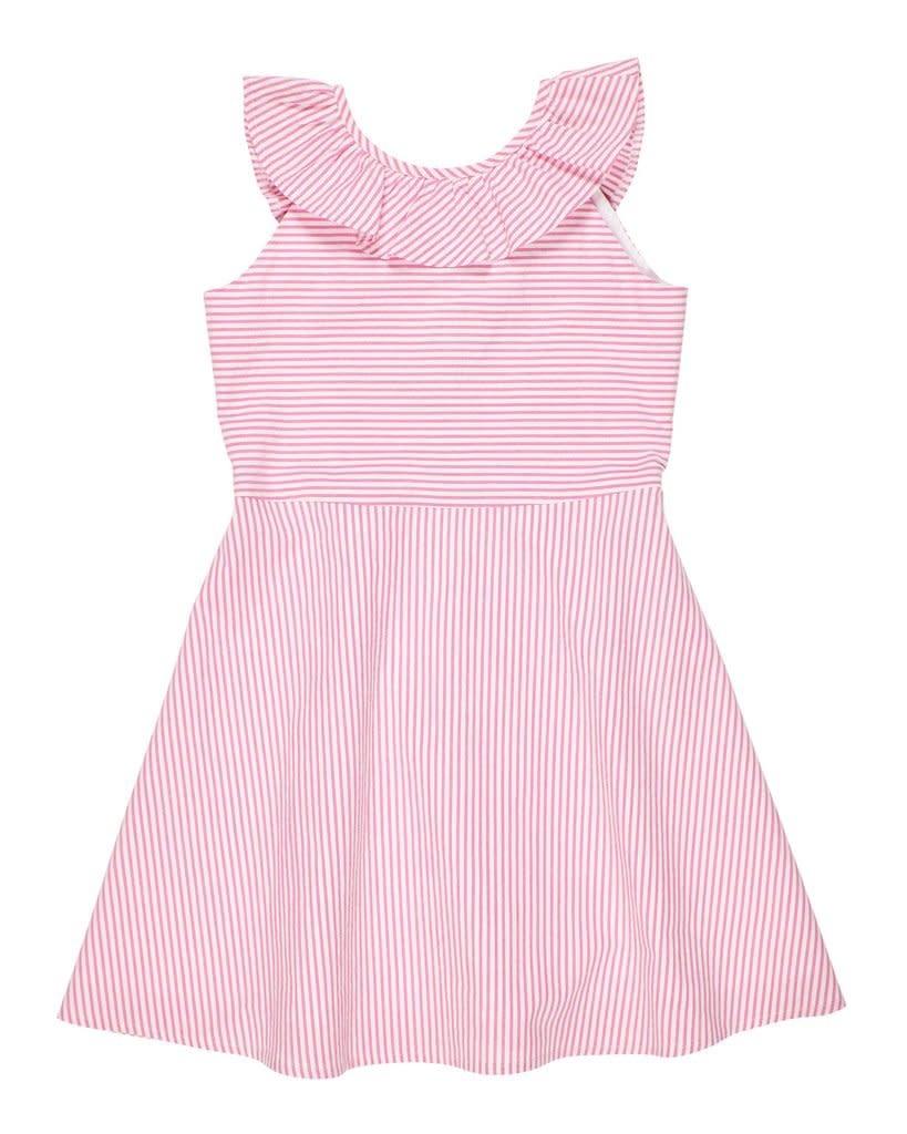 Florence Eiseman Pink Ruffle Seersucker Dress