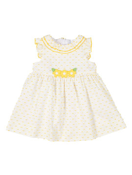 Florence Eiseman Yellow Swiss Dot Dress