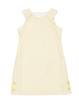 Florence Eiseman Yellow Zigzag Dress