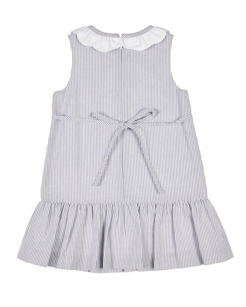 Florence Eiseman Grey Seersucker Dress