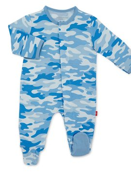 Magnificent Baby Blue Camo Modal Footie