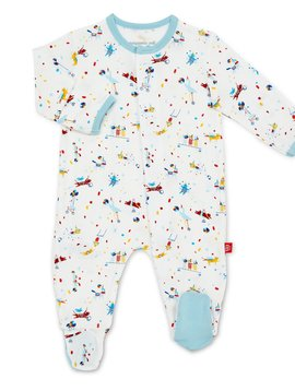 Magnificent Baby Blue Carnivale Modal Footie